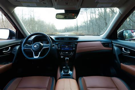 nissan rogue 2017 interior 2017 nissan rogue sl awd review the miata of crossovers