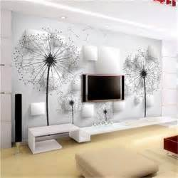 Contemporary Wall Murals Aliexpress Com Buy Dandelion Wall Covering Minimalist