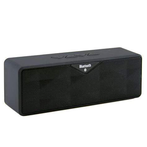 Speaker Bluetooth Sd 100 wireless bluetooth mini speaker dual speaker with micro sd card slot black