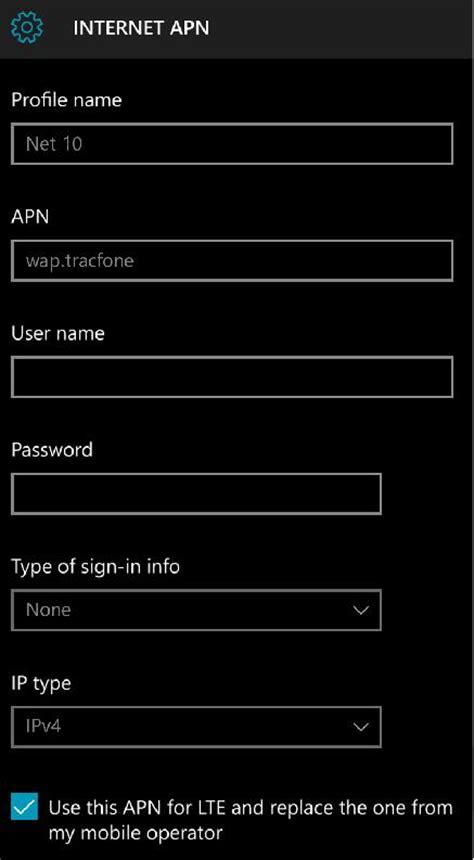 mobile apn settings net10 apn settings for windows phone 4g lte apn usa