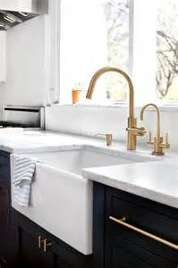 Kitchen Faucets For Farmhouse Sinks brass vintage kitchen faucet with farm sink transitional kitchen