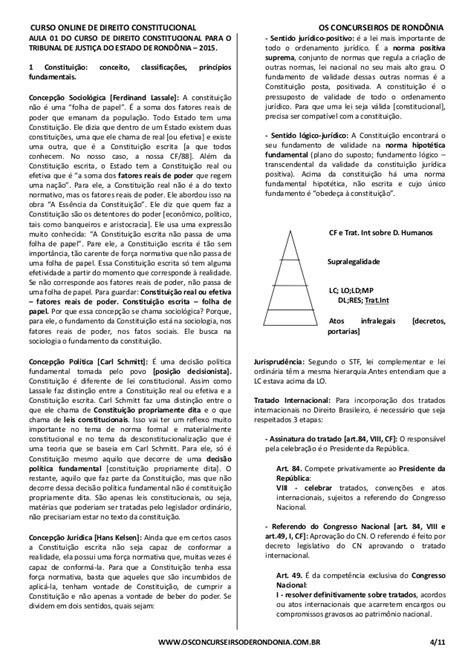 Curso Online de Direito Constitucional - Aula 01