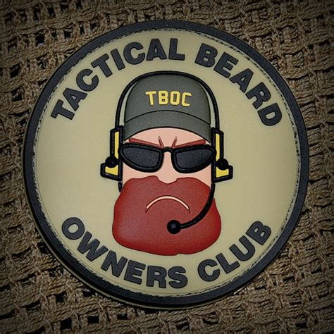 Tactical Beard Brown tactical beard owners club patches popular airsoft