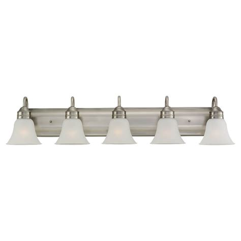 bathroom light fixtures at home depot sea gull lighting 5 light antique brushed nickel