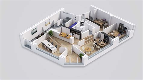 3d office floor plan plans de vente 3d drawbotics