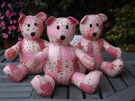 How To Make A Patchwork Teddy - pink patchwork teddy handmade by claresquiltsnsofttoy