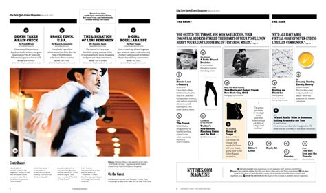a redesigned new york times magazine table of contents new york times magazine redesign 2011 matt willey