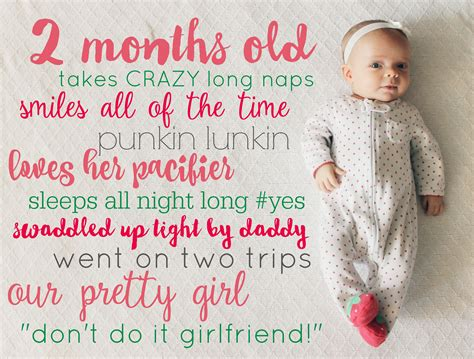 Do Something For A Child Each Month by Monthly Baby Stats Picture Tutorial Child At