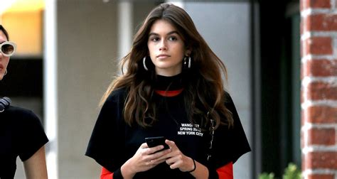 kaia gerber spends the day with girlfriends in beverly