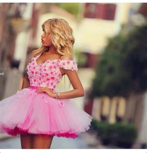Tutu Dress Flower Pink Series A0050 dress prom dress homecoming dress homecoming pink dress pink sunglasses pink pink