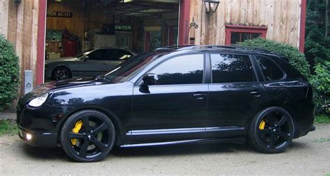 porsche suv blacked out blacked out ctt 6speedonline porsche forum and luxury
