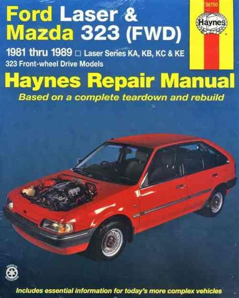 old car owners manuals 1984 ford laser on board diagnostic system ford laser mazda 323 fwd 1981 1989 haynes owners service repair manual 9781563922640