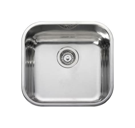 leisure kitchen sinks leisure bss40 1 0 bowl square inset stainless steel