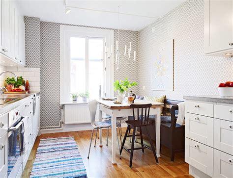 kitchen design for small flat 北欧ダイニングキッチンのレイアウト画像例 レトロ カントリー 北欧インテリア