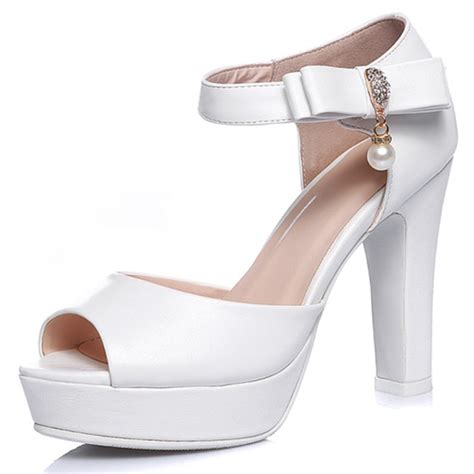 sandals cover toes big size 33 44 ankle white pink sweet s sandals