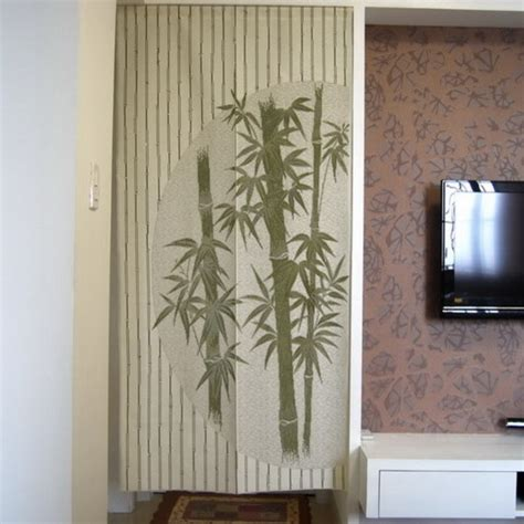 chinese shower curtain chinese bamboo design door curtain d2942 contemporary