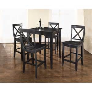 pub dining set 5 pub dining set black d kd520001bk crosley furniture afw