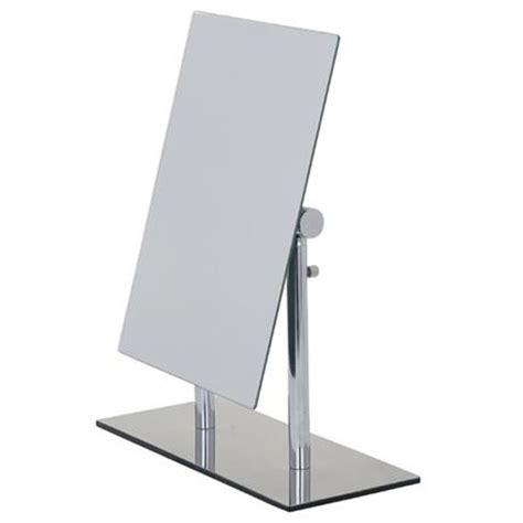 freestanding bathroom mirror wenko pinerolo standing cosmetic mirror chrome