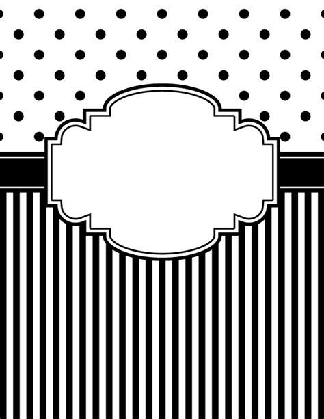 black and white binder cover templates free printable black and white polka dot and stripe binder