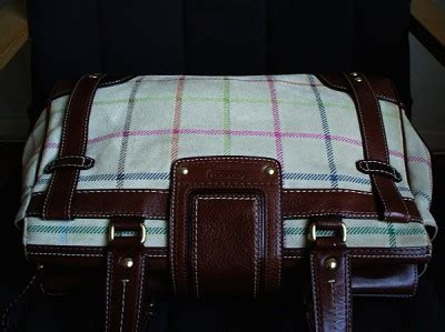 Coach Htons Suede Plaid Carryall by Shopdotbags Coach Htons Lg Vintage Plaid Suede