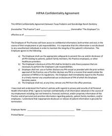 Agreement Letter Sle For Employee Hipaa Confidentiality Agreement Template 28 Images Sle Confidentiality Agreement 7 Free Sle