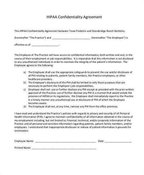 hipaa confidentiality agreement template hipaa business associate agreement template 28 images