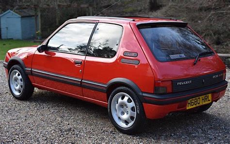 peugeot 205 gti peugeot 205 gti 1 9 sells for 163 25k at auction
