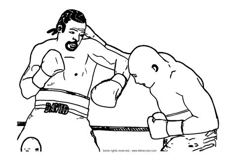 Boxing Coloring Page Of Fighter Coloring Pages Boxer Coloring Pages