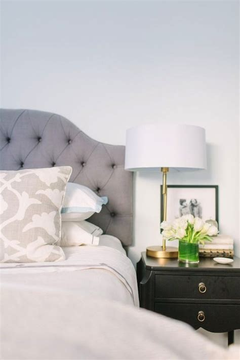 gray headboard bedroom gray tufted headboard contemporary bedroom farrow