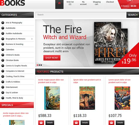 ecommerce website templates for books 14 fully customizable ecommerce templates themes for