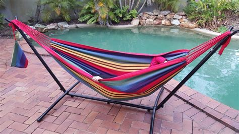 free standing hammock free standing red and yellow hammock with fixed stand ebay