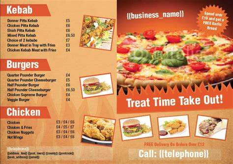 design takeaway menu online becky doherty 2 2 templatecloud com