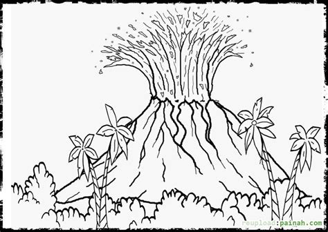 printable coloring pages volcanoes printable volcano coloring pages coloring home