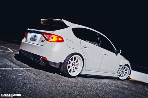 subaru wrx hatchback stance in white stancenation form gt function