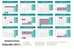 Kalender 2018 Ferien Feiertage Niedersachsen Ferien Niedersachsen 2017 Ferienkalender 220 Bersicht
