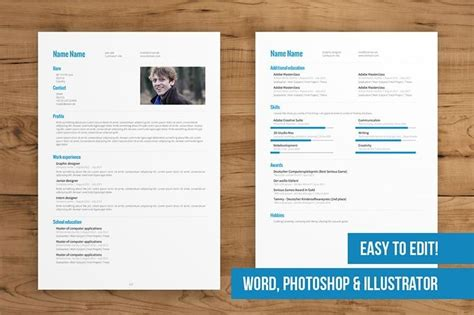 template cv pages free two page resume template best resume collection