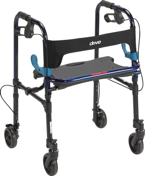 drive 4 wheel walker with seat clever lite walker with 5 quot wheels drive