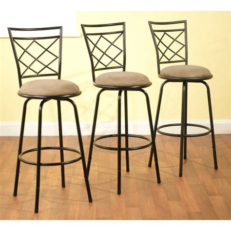 Kitchen Counter Chairs by 3 Bar Stools High Seat Chairs Adjustable Swivel Counter