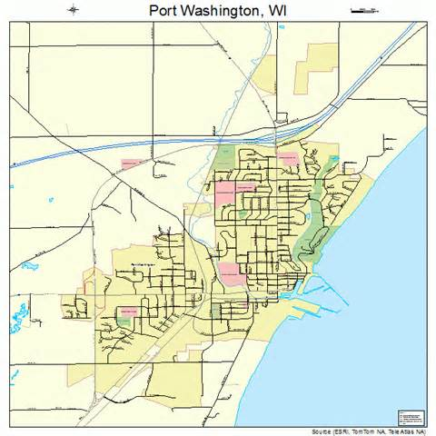 Port Washington Map by Port Washington Wisconsin Street Map 5564450