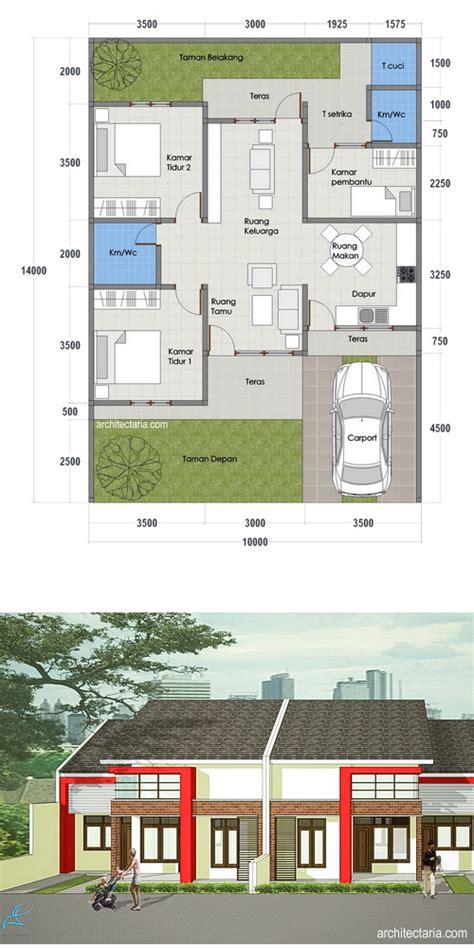denah layout rumah desain rumah mungil type 70 pt architectaria media cipta