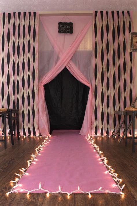 diy fashion show runway for birthday party diy