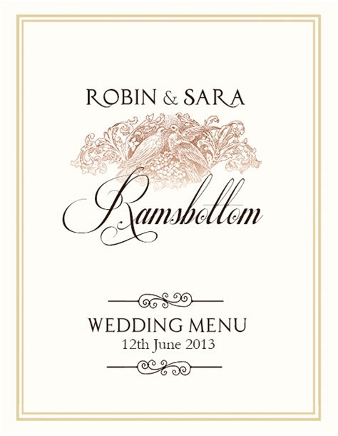 wedding menu templates free free wedding menu design photoshop templates nextdayflyers