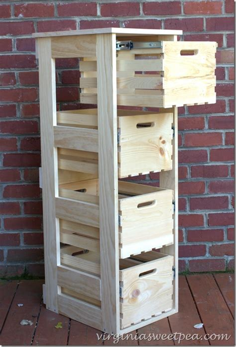 Tall Kitchen Pantry Cabinet Furniture 26 best diy wood crate projects and ideas for 2017