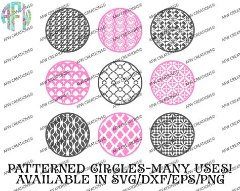 pattern cut vinyl digital cut files pattern circles bundle 3 svg dxf