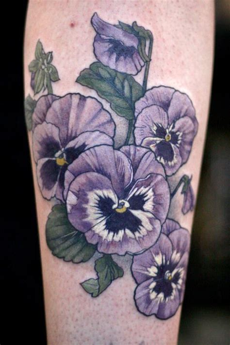 pansy tattoo 25 best ideas about pansy on violet