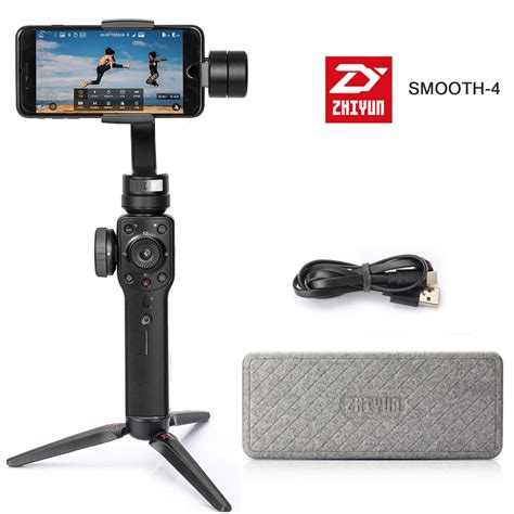zhiyun smooth 4 handheld 3 axis gimbal stabilizer for smartphone like iphone x 8 7 plus samsung