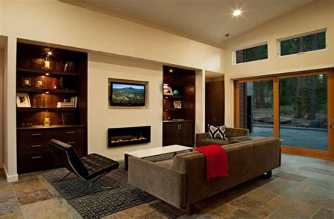 Living Room With Fireplace And Tv 21 Modern Fireplaces Characteristics And Interior D 233 Cor Ideas