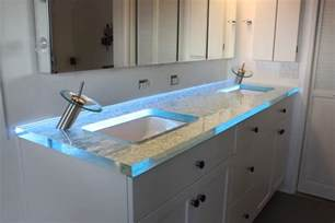 Custom Glass Vanity Top Amazing Glass Bathroom Counter Top From Gravity Glas Led