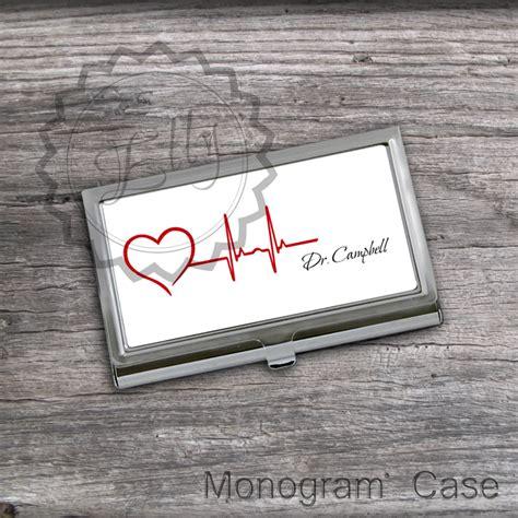 Custom Initial Name Big Card Holder Grey 2 design heartbeat card holder custom name or monogram card keeper steel card unique gift