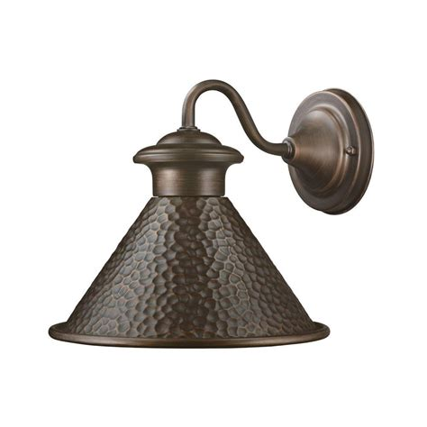 home depot barn light home decorators collection essen 1 light antique copper